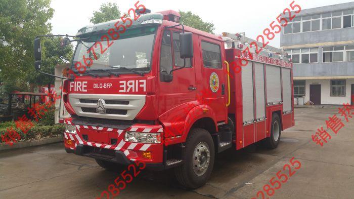 重汽出口版消防车